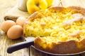 Картинка выпечка, яблочный пирог, яблоки, яйца