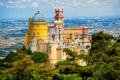 Картинка пейзаж, Португалия, дворец, Pena, National Palace Sintra