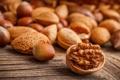 Картинка орехи, миндаль, фундук, грецкий