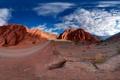 Картинка дорога, солнце, скалы, жара, панорама