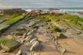Картинка море, небо, водоросли, камни, скалы
