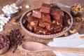 Картинка шоколад, сладости, орехи