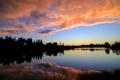 Картинка небо, вода, облака, деревья, Природа
