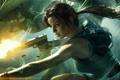 Картинка Девушка, Пистолет, Лара Крофт, Lara Croft and the Guardian of Light