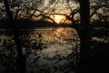 Картинка закат, ы природа, рассвет, фото, Польша, озеро