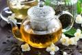 Картинка жасмин, зеленый чай, заварник, напиток, чайник