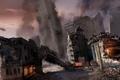 Картинка город, здание, вертолет, конец света, MotorStorm Apocalypse