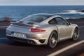 Картинка вода, 911, Porsche, Порше, Turbo, Турбо, дорога.вид сзади