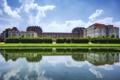 Картинка пруд, отражение, Италия, Italy, Венария-Реале, Venaria Reale, Королевский Дворец Венария