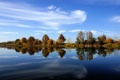 Картинка небо, вода, деревья, природа, река, фото, пейзажи