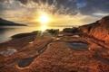 Картинка закат, природа, фото, рассвет, Australia, Tasmania, Freycinet National Park