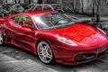 Картинка дорога, красный, Ferrari