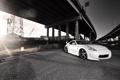 Картинка белый, мост, тюнинг, Nissan, white, ниссан, 370-Z