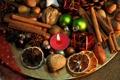 Картинка Новый Год, печенье, Рождество, сладости, фрукты, орехи, корица