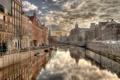Картинка city, город, отражение, река, дома, Амстердам, фотограф