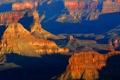 Картинка закат, горы, каньон, Аризона, США, grand canyon