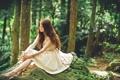 Картинка лес, девушка, настроение, азиатка