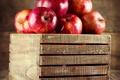 Картинка яблоки, красные, фрукты, ящик