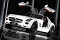 Картинка car, машина, отражение, tuning, reflection, INDEN Design Mercedes SLS AMG, 2400x1602