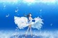Картинка вода, девушка, пузыри, солнечный свет
