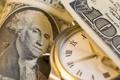 Картинка green, Dollar, clock, Franklin