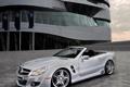Картинка тюнинг, Mercedes, кабриолет, брущатка