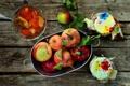 Картинка осень, яблоки, урожай, баночки, фрукты, джем, варенье