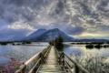 Картинка пейзаж, мост, Italy, Lombardy, Clusane sul Lago