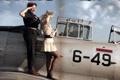 Картинка стиль, фон, девушки, самолёт