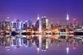 Картинка lights, USA, ночной город, Манхэттен, Нью Йорк, небоскрёбы, skyline
