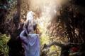 Картинка природа, лес, девушка