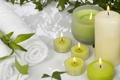 Картинка свечи, зеленое, релаксация, SPA