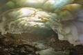 Картинка вулкан, камчатка, Снежная пещера