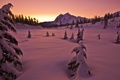 Картинка зима, горы, снег, вечер, природа