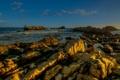 Картинка море, камни, побережье, горизонт, Италия, прибой, рифы