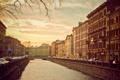 Картинка река, здания, канал, осень, питер, санкт-петербург, дома