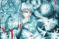 Картинка механизм, перья, арт, ловушка, парень, белые волосы, снов