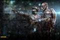 Картинка оружие, череп, экипировка, кожаная куртка, группировка, Survarium, Vostok Games