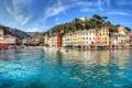 Картинка море, здания, Италия, Italy, Лигурийское море, Портофино, Portofino