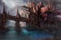 Картинка город, будущее, человек, сооружение, future