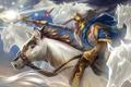 Картинка магия, лошадь, маг, копье, dota, dota 2, Ezalor