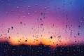 Картинка капли, закат, пурпурный