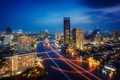 Картинка выдержка, город, Bangkok, ночь, тайланд, огни