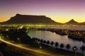 Картинка ночь, огни, ЮАР, Кейптаун, Kapetown