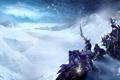 Картинка снег, World of Warcraft, метель, wow, путники