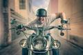 Картинка мотоцикл, мотоциклист, безумие