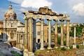Картинка площадь, Рим, Италия, колонны, Italy, Rome, Forum Romanum