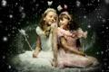 Картинка дети, девочки, улыбки, наряды