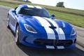 Картинка синий, полосы, фон, Додж, Dodge, суперкар, Viper