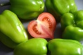 Картинка любовь, красный, зеленый, green, сердце, red, перец